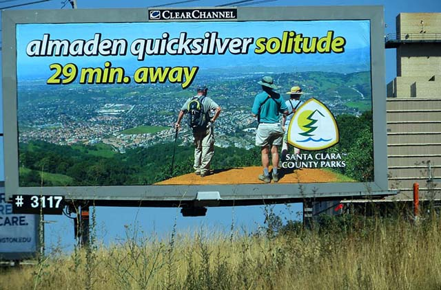 Almaden Quicksilver Billboard on Monterey Road