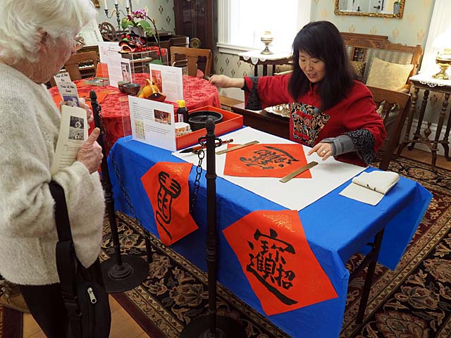 Calligraphy demonstration at Chinese New Year Living History Day