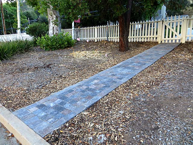 New stone pathway at the Casa Grande