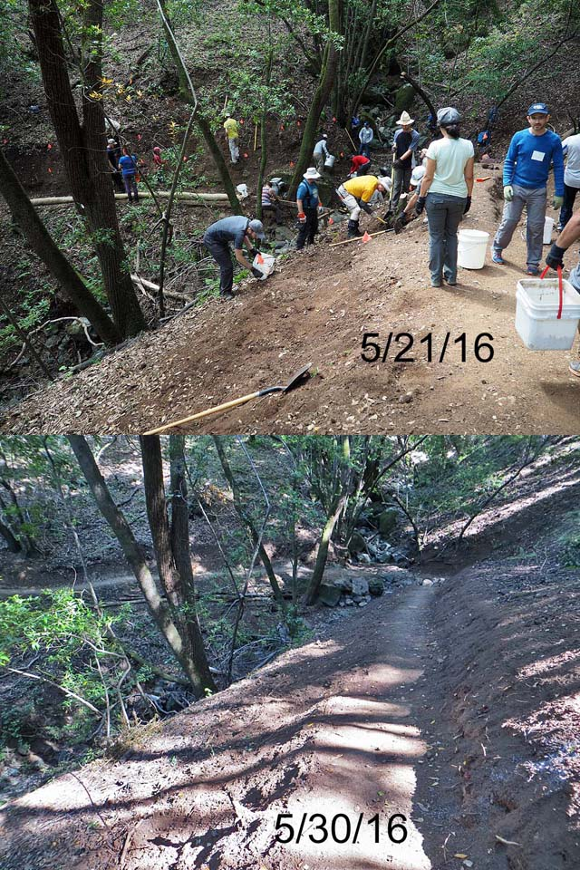 V-O-Cal work on the New Almaden Trail